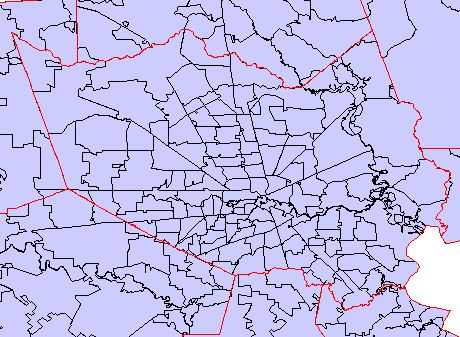 Zip Code Map Houston